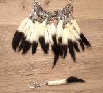 Hermelinschwanz Schlüsselanhänger