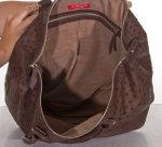 Straußenledertasche