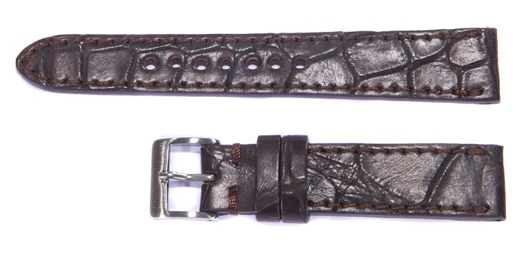 Alligator Uhrenarmband 20/18